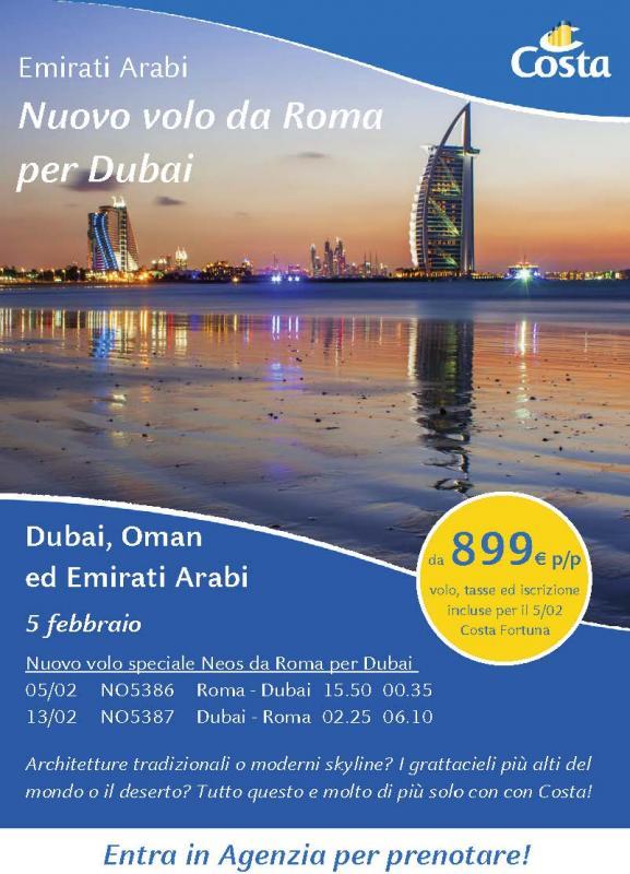 Costa Fortuna per Dubai 5 Febbraio