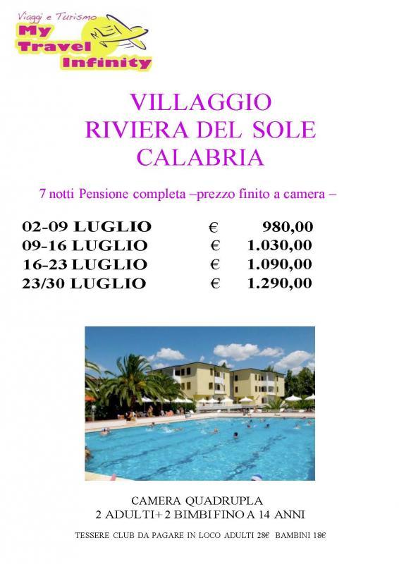 Villaggio Riviera del Sole Calabria 7 Notti
