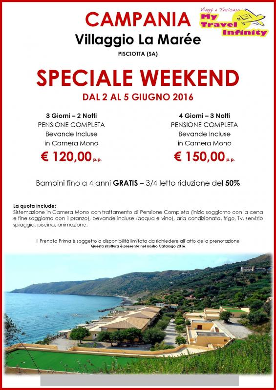 Speciale Weekend a Villaggio La Marée Pisciotta